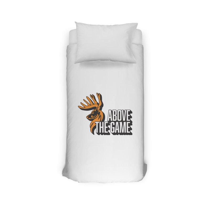 Above The Game - White Logo Home Duvet by abovethegame's Artist Shop