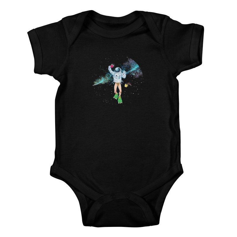 Balls in Space Kids Baby Bodysuit by abrahambalcazar's Artist Shop