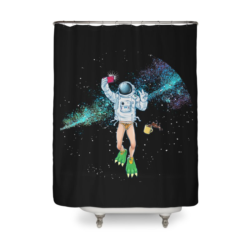 Balls in Space Home Shower Curtain by abrahambalcazar's Artist Shop