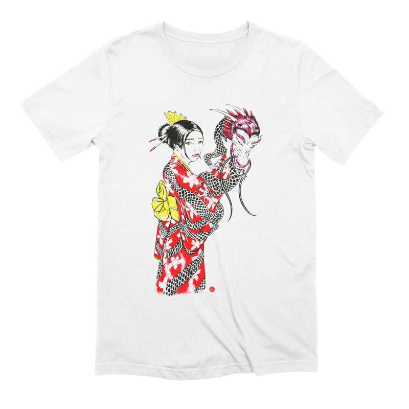 Dragon Kimono Men's T-Shirt by abrahambalcazar's Artist Shop