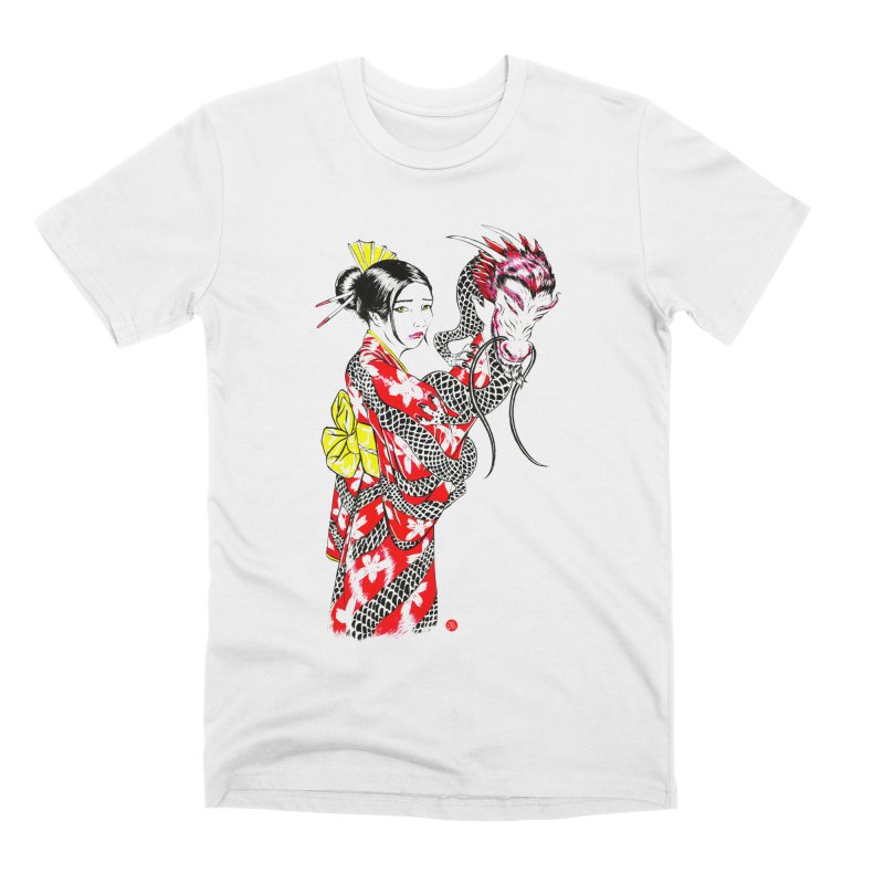 Dragon Kimono Men's T-Shirt by abrahambalcazar's Artist Shop