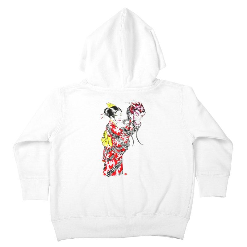Dragon Kimono Kids Toddler Zip-Up Hoody by abrahambalcazar's Artist Shop