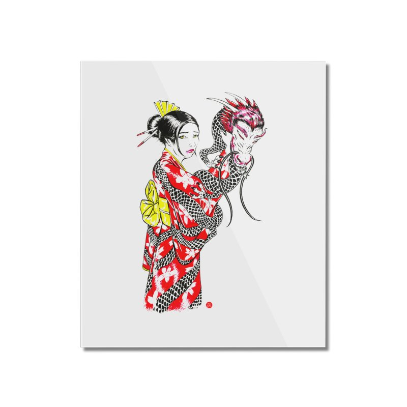 Dragon Kimono Home Mounted Acrylic Print by abrahambalcazar's Artist Shop