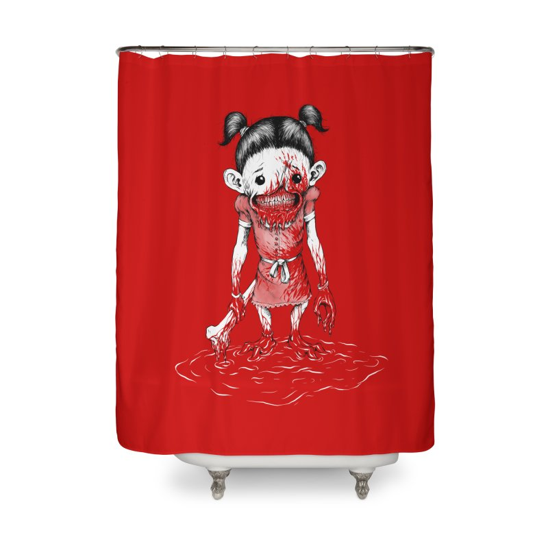 La niña Home Shower Curtain by abrahambalcazar's Artist Shop