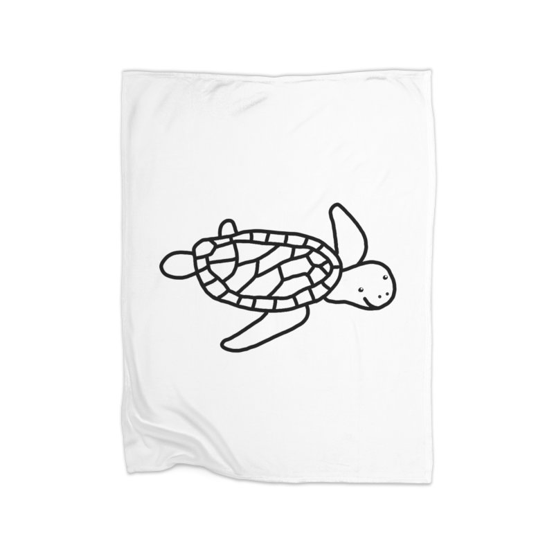 Hello Turtle Home Blanket by Abroadland Art