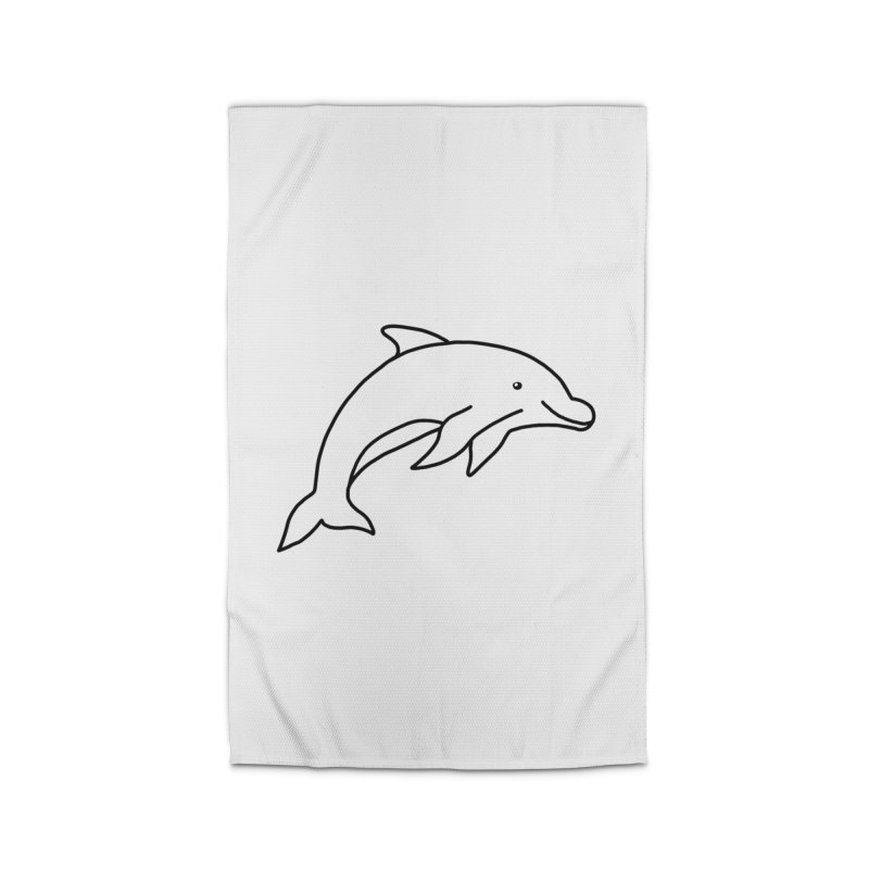 Hello Dolphin Home Rug by Abroadland Art