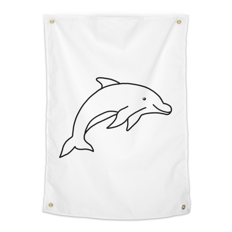 Hello Dolphin Home Tapestry by Abroadland Art