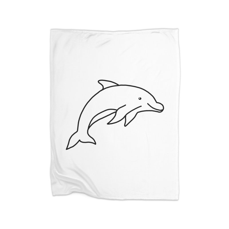 Hello Dolphin Home Blanket by Abroadland Art