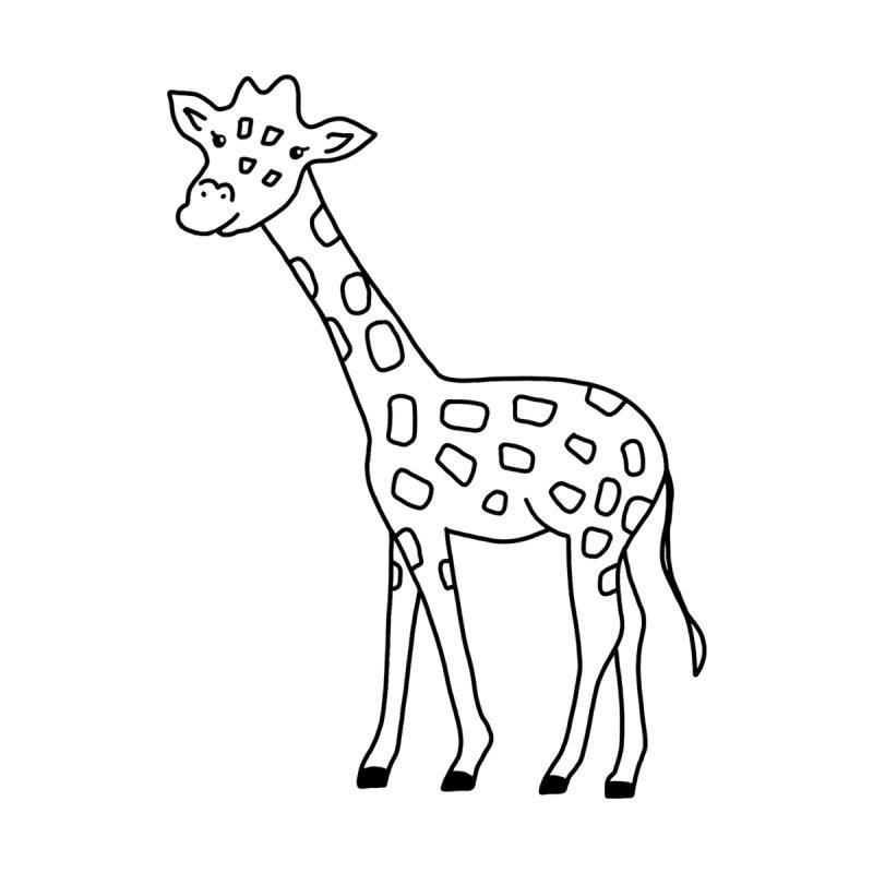 Hello Giraffe Home Rug by Abroadland Art