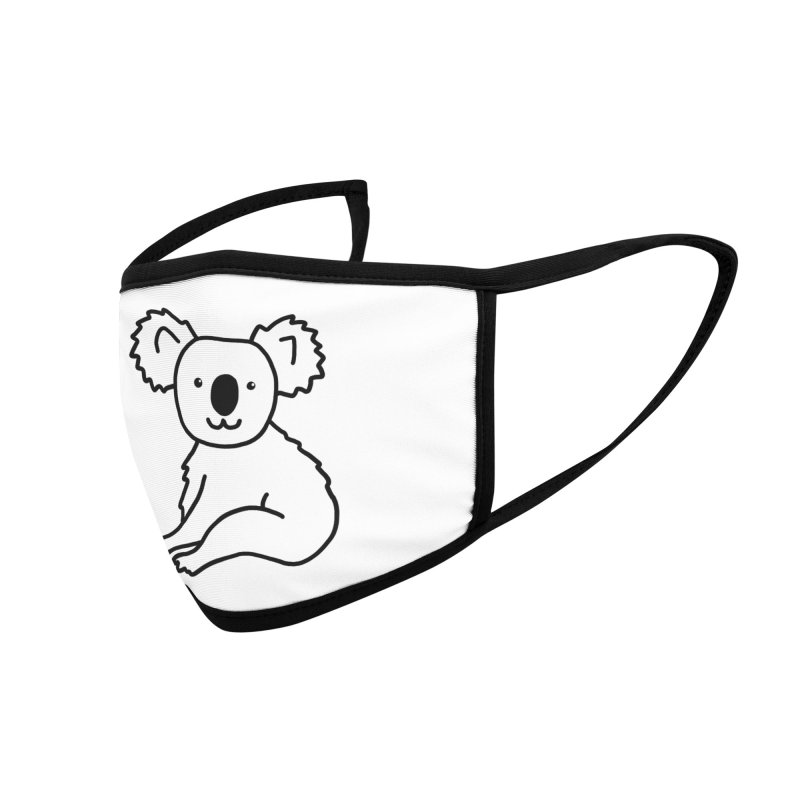 Hello Koala Accessories Face Mask by Abroadland Art