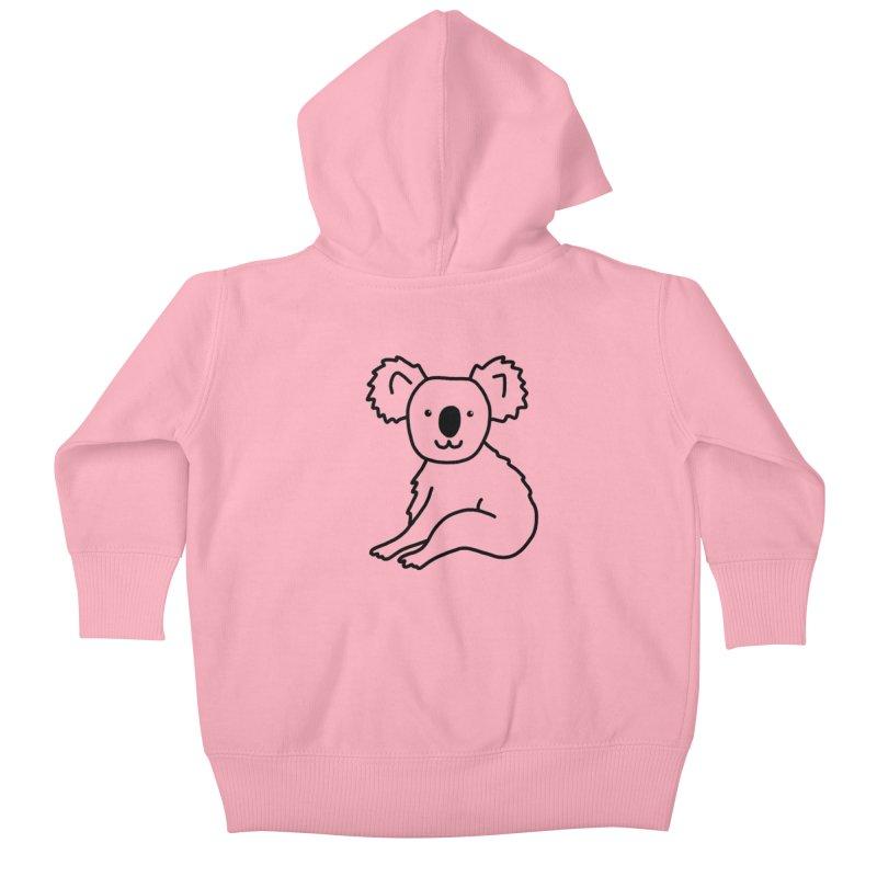 Hello Koala Kids Baby Zip-Up Hoody by Abroadland Art