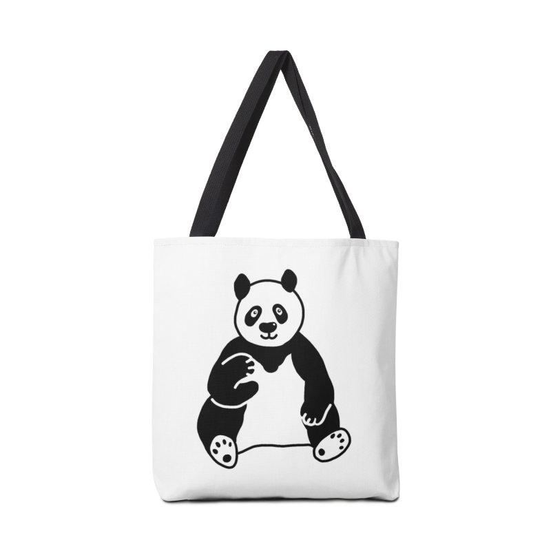 Hello Giant Panda Accessories Bag by Abroadland Art