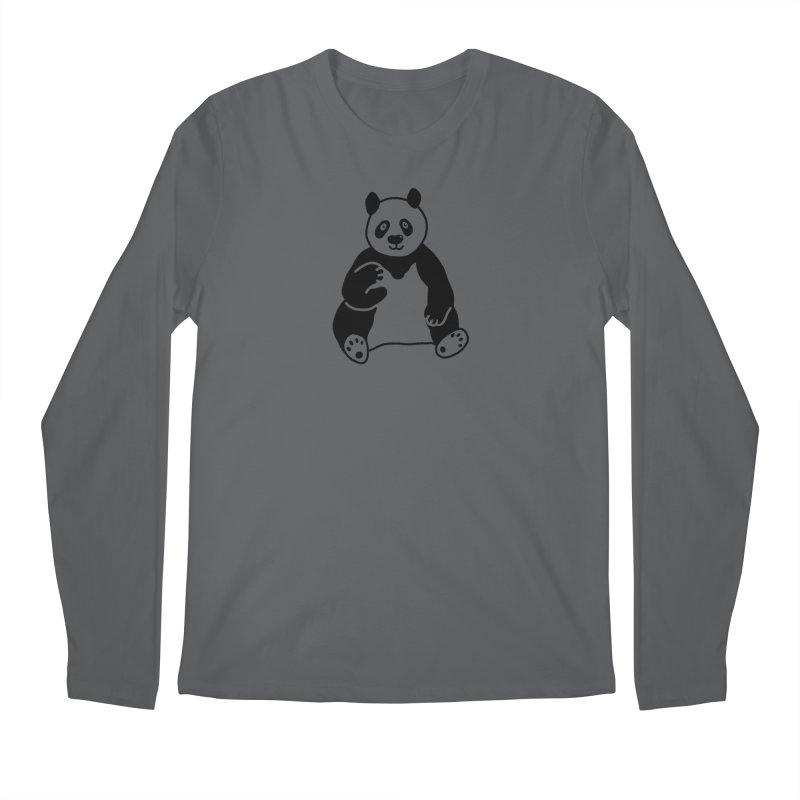 Hello Giant Panda Men's Longsleeve T-Shirt by Abroadland Art