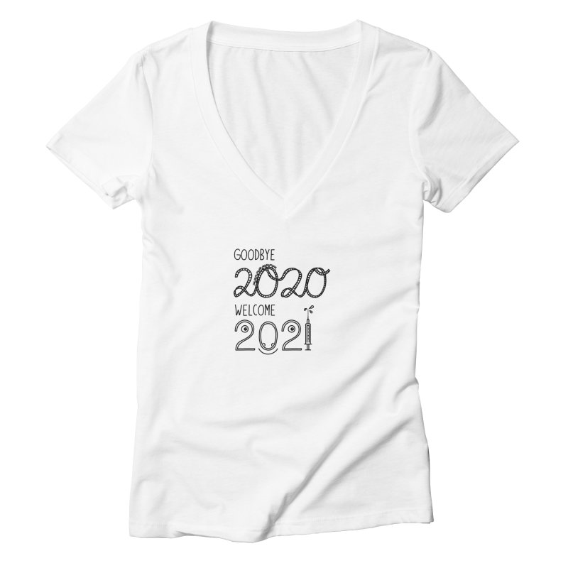 From the year 2020 to 2021 Women's V-Neck by Abroadland Art