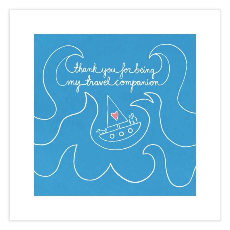 Thank you for being my anchor overseas Home Fine Art Print by Abroadland Art