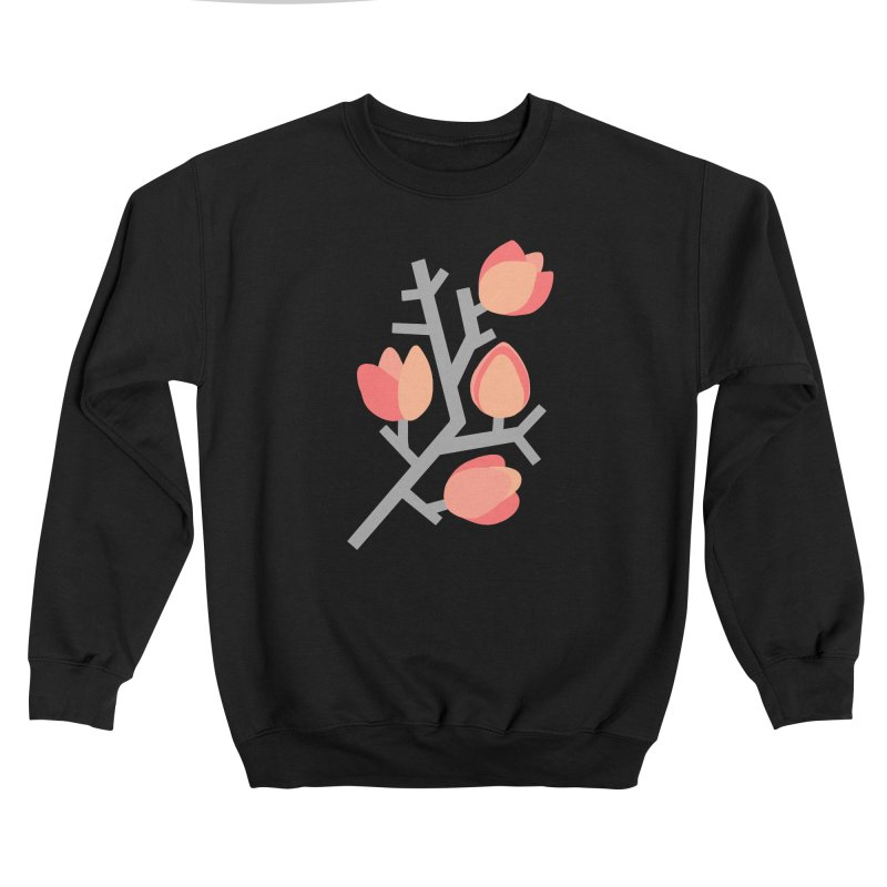 Coral Floral Women's Sweatshirt by Abroadland Art
