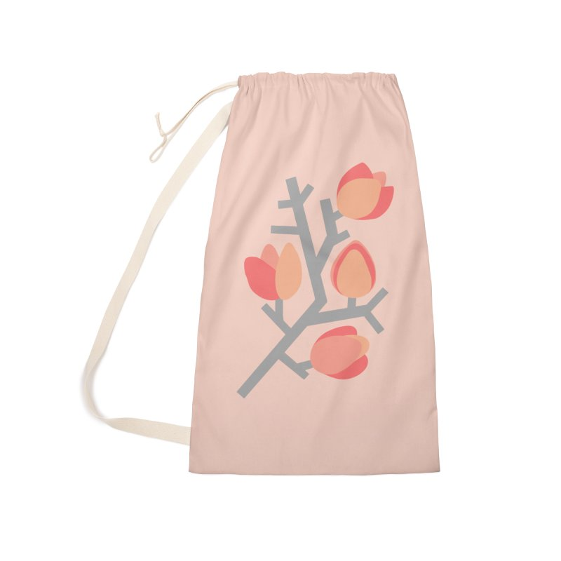 Coral Floral with Light Pink Background Accessories Bag by Abroadland Art