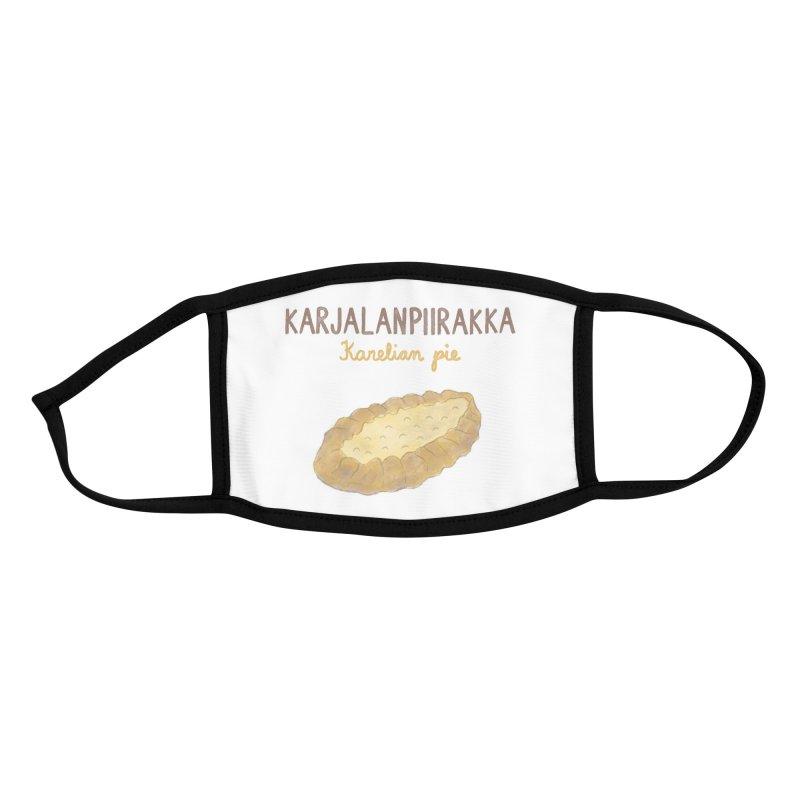 Karjalanpiirakka - Karelian Pie Accessories Face Mask by Abroadland Art
