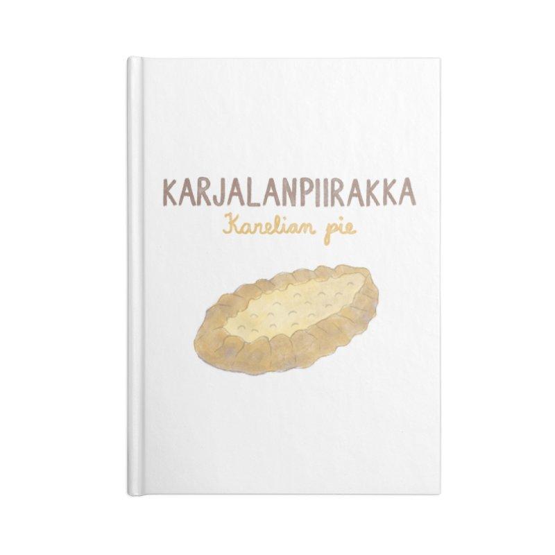 Karjalanpiirakka - Karelian Pie Accessories Notebook by Abroadland Art