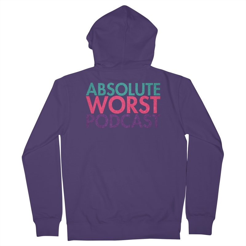 Absolute Worst Podcast Logo Women's French Terry Zip-Up Hoody by Absolute Worst Podcast