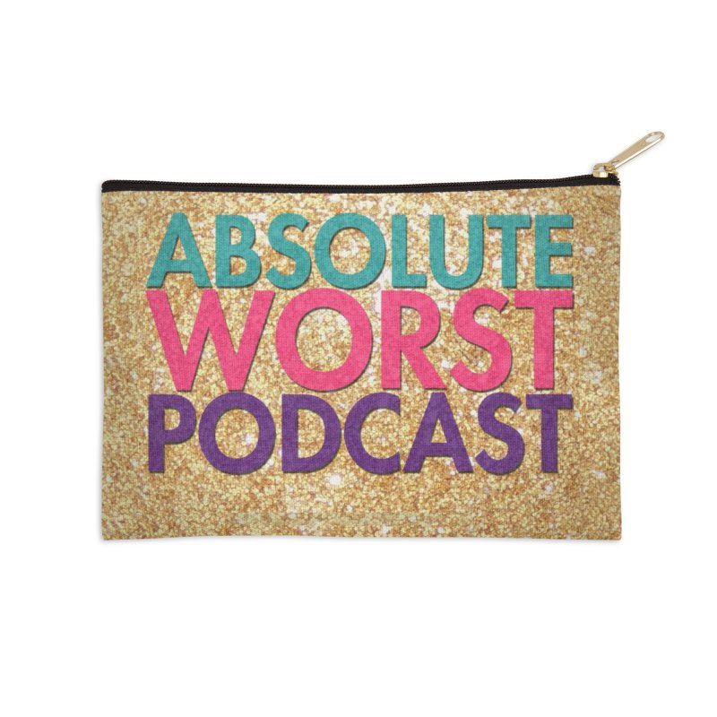 Absolute Worst Podcast Logo Accessories Zip Pouch by Absolute Worst Podcast