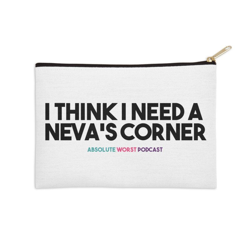 Neva's Corner Accessories Zip Pouch by Absolute Worst Podcast