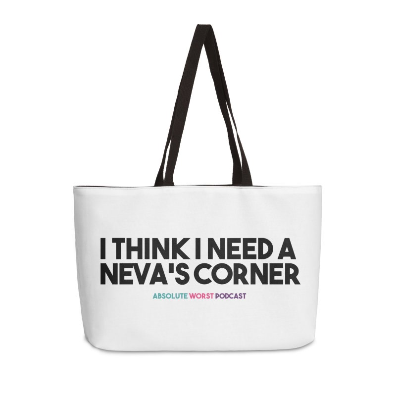 Neva's Corner Accessories Weekender Bag Bag by Absolute Worst Podcast
