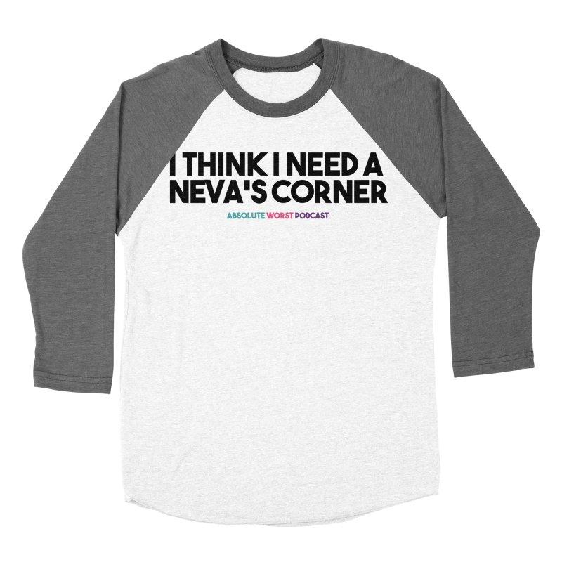 Neva's Corner Men's Baseball Triblend Longsleeve T-Shirt by Absolute Worst Podcast