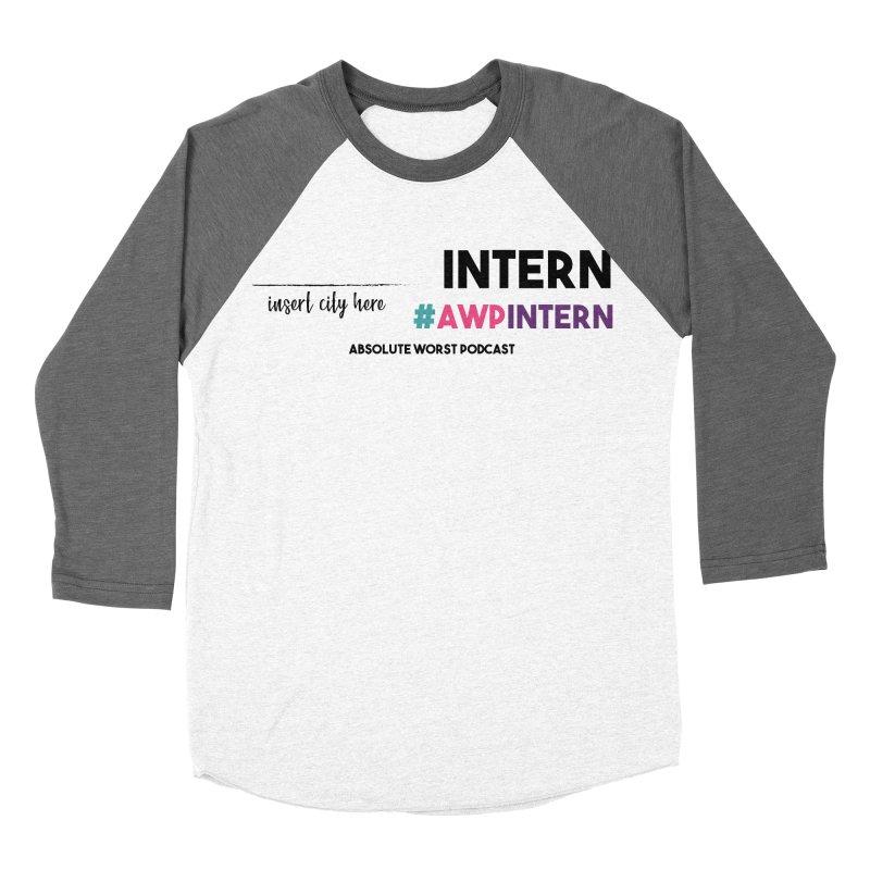 AWP Intern Men's Baseball Triblend Longsleeve T-Shirt by Absolute Worst Podcast