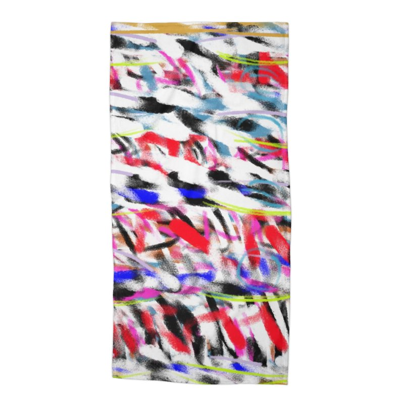 Marching Colors of Mrs. King Accessories Beach Towel by Abstract Bag Company