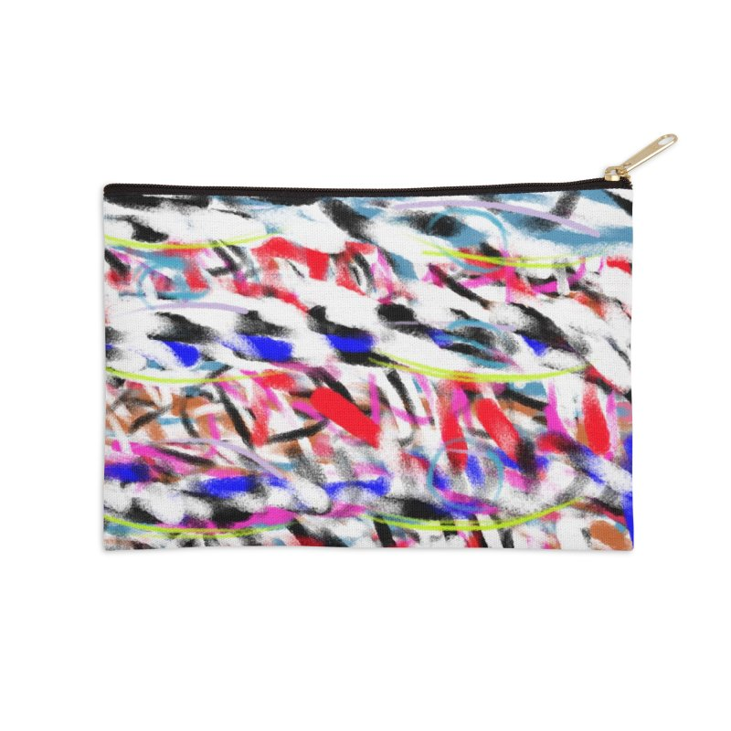 Marching Colors of Mrs. King Accessories Zip Pouch by Abstract Bag Company