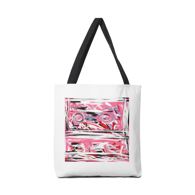 Pink Mix Tapes Accessories Bag by Abstract Bag Company