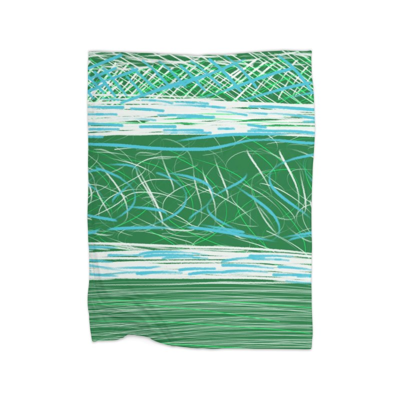 Green as Michael Stipe Home Blanket by Abstract Bag Company