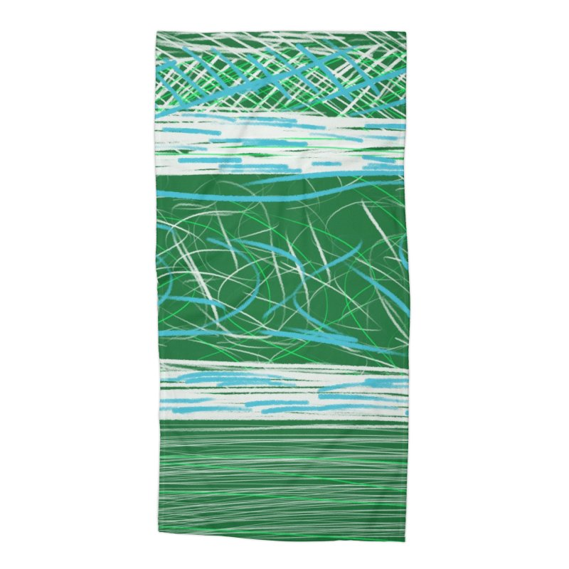 Green as Michael Stipe Accessories Beach Towel by Abstract Bag Company