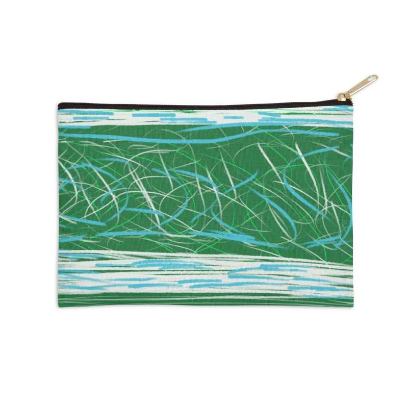 Green as Michael Stipe Accessories Zip Pouch by Abstract Bag Company
