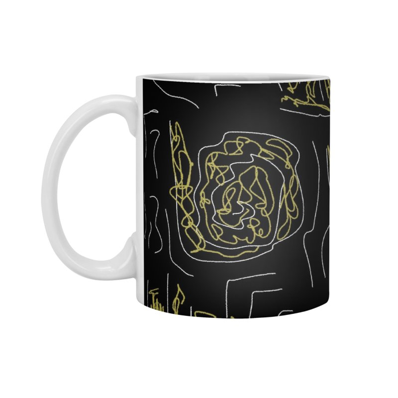 Yellow and Black Accessories Standard Mug by Abstract Bag Company