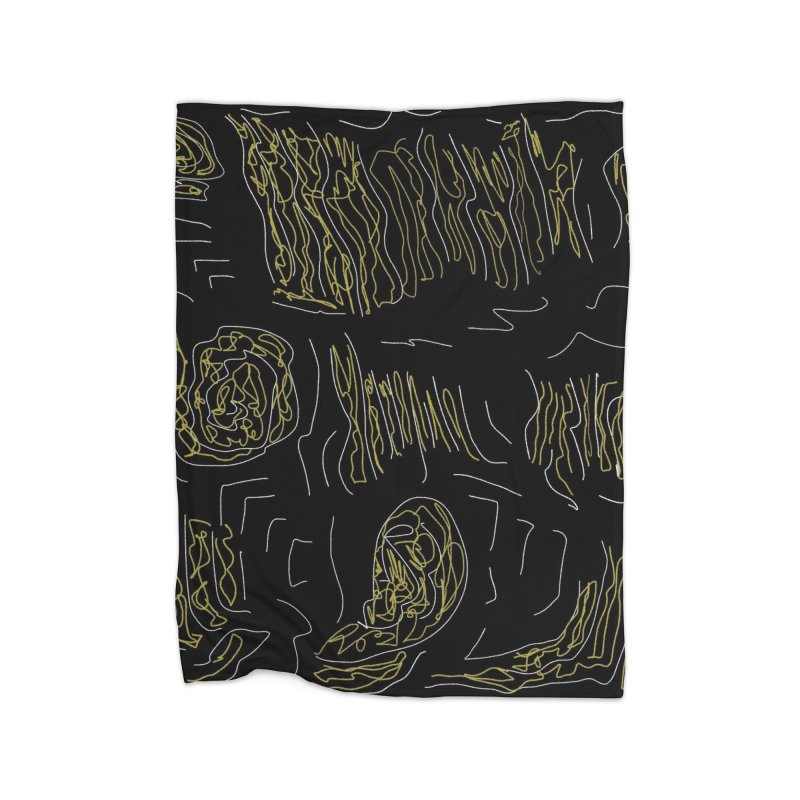 Yellow and Black Home Blanket by Abstract Bag Company
