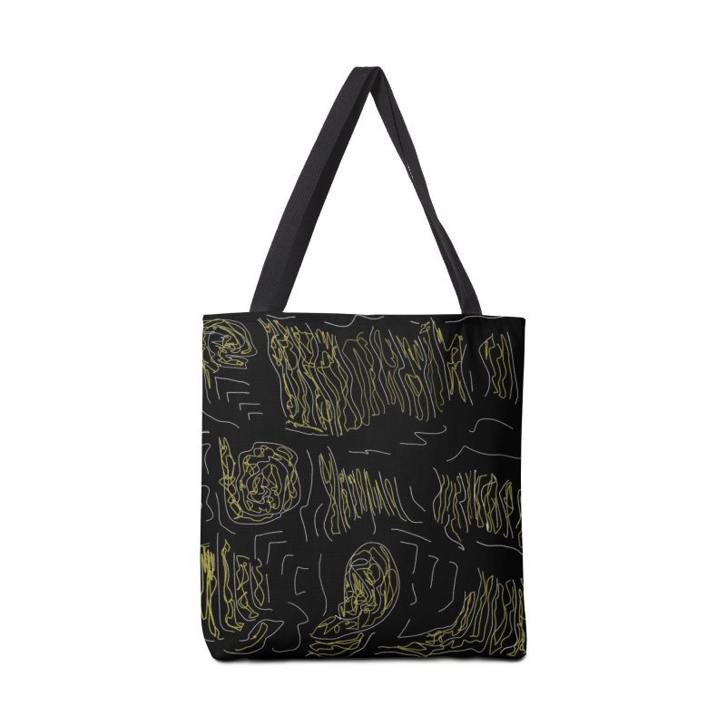 Yellow and Black Accessories Bag by Abstract Bag Company