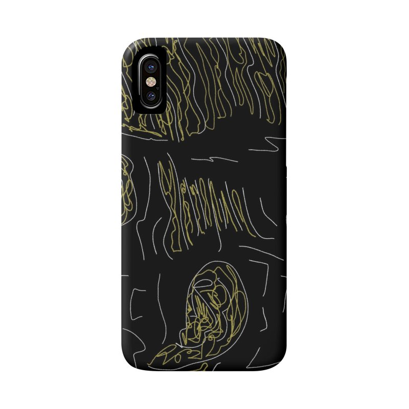 Yellow and Black Accessories Phone Case by Abstract Bag Company