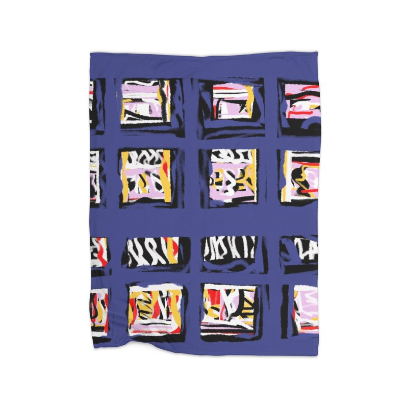 Parade O Squares Home Blanket by Abstract Bag Company