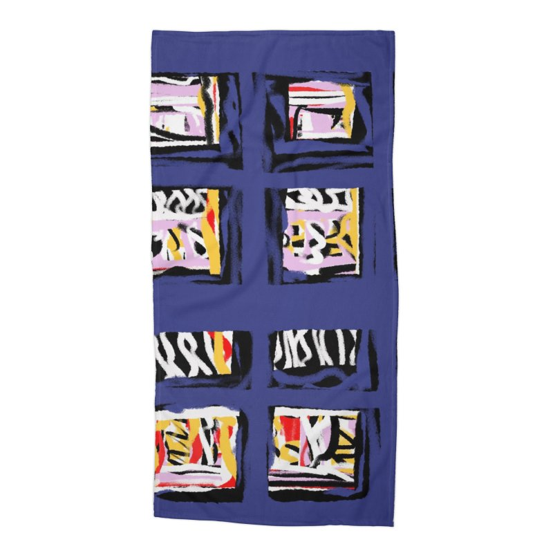 Parade O Squares Accessories Beach Towel by Abstract Bag Company
