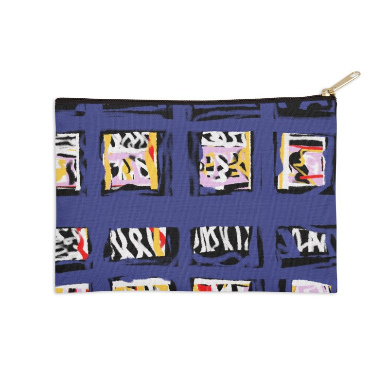 Parade O Squares Accessories Zip Pouch by Abstract Bag Company