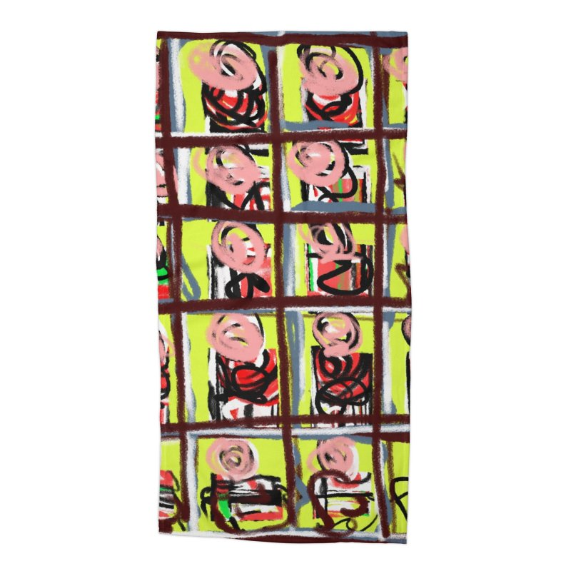 Nanny Nanny Pink Face Accessories Beach Towel by Abstract Bag Company