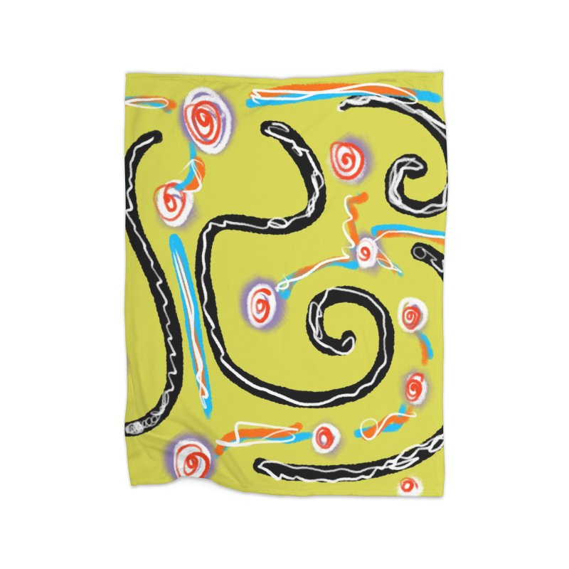 Tape Worms and Fireworks Home Blanket by Abstract Bag Company