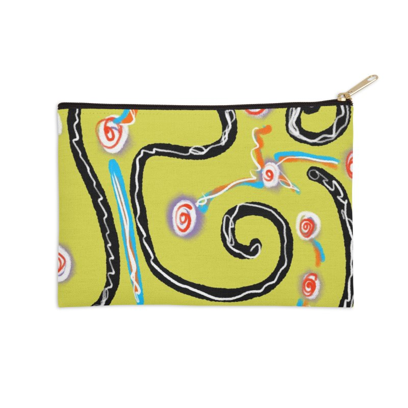 Tape Worms and Fireworks Accessories Zip Pouch by Abstract Bag Company