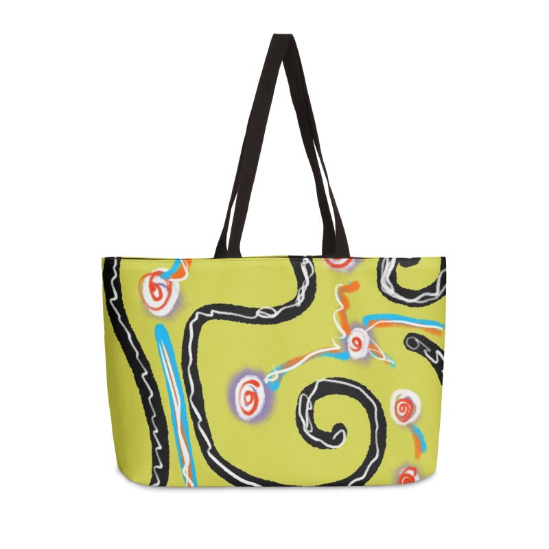 Tape Worms and Fireworks in Weekender Bag by Abstract Bag Company