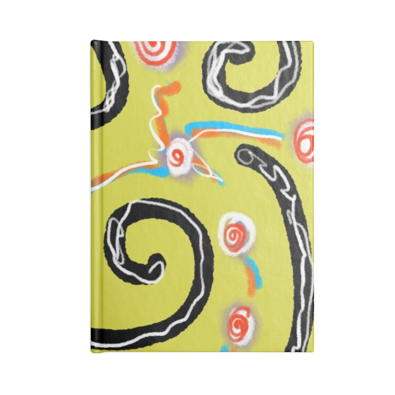 Tape Worms and Fireworks Accessories Notebook by Abstract Bag Company