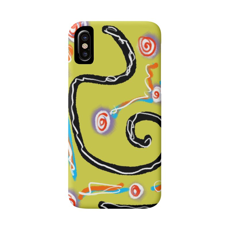 Tape Worms and Fireworks Accessories Phone Case by Abstract Bag Company