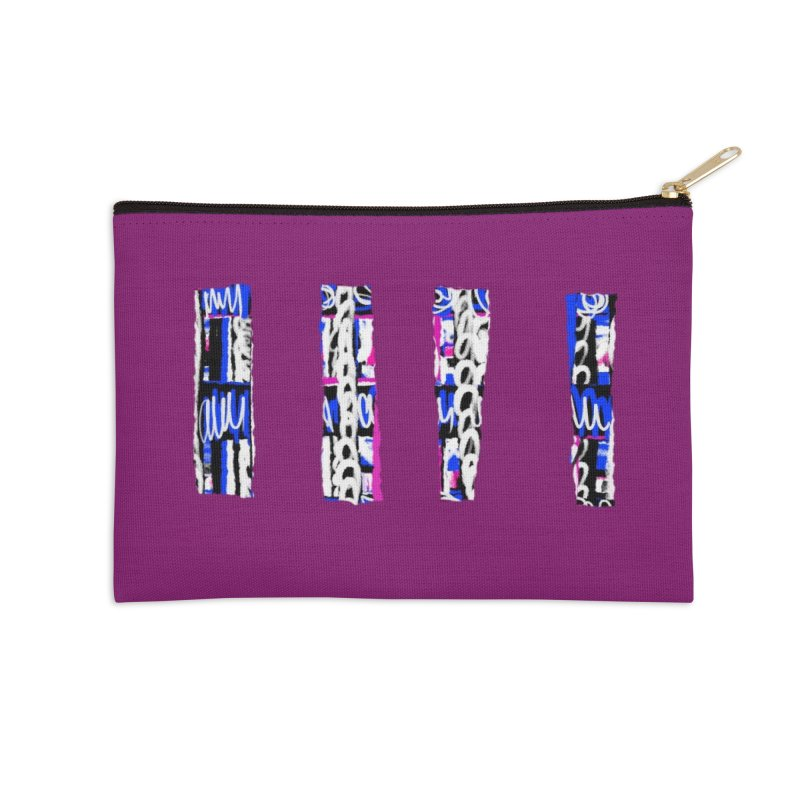 Purple Pylons for Prince Accessories Zip Pouch by Abstract Bag Company