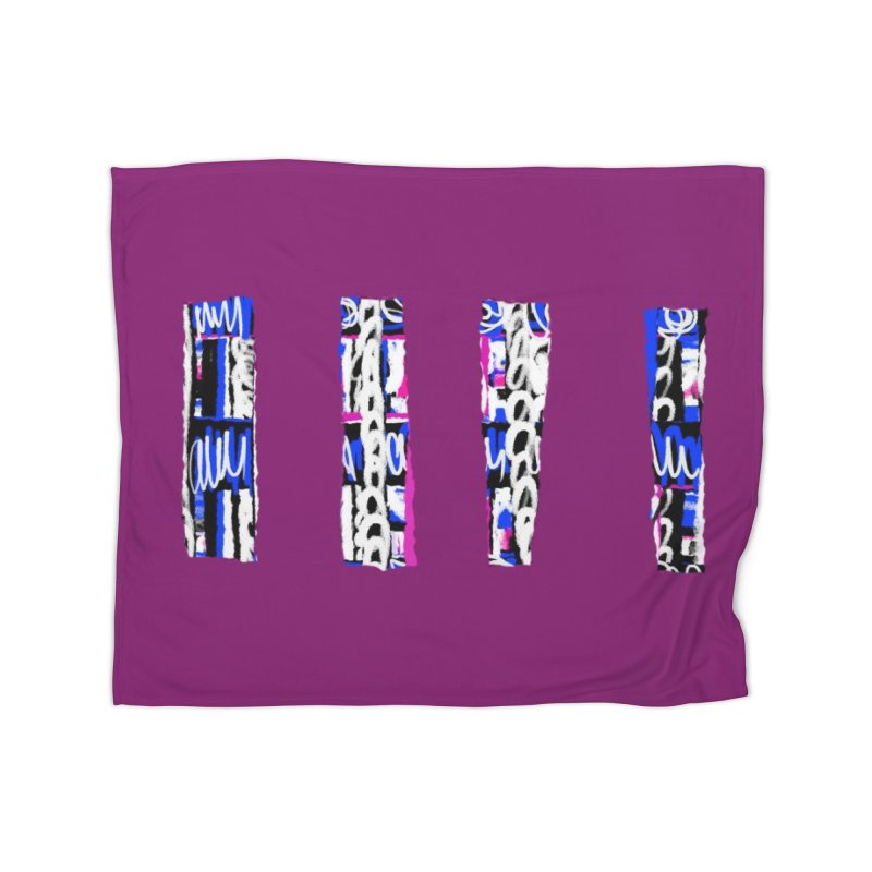 Purple Pylons for Prince Home Blanket by Abstract Bag Company